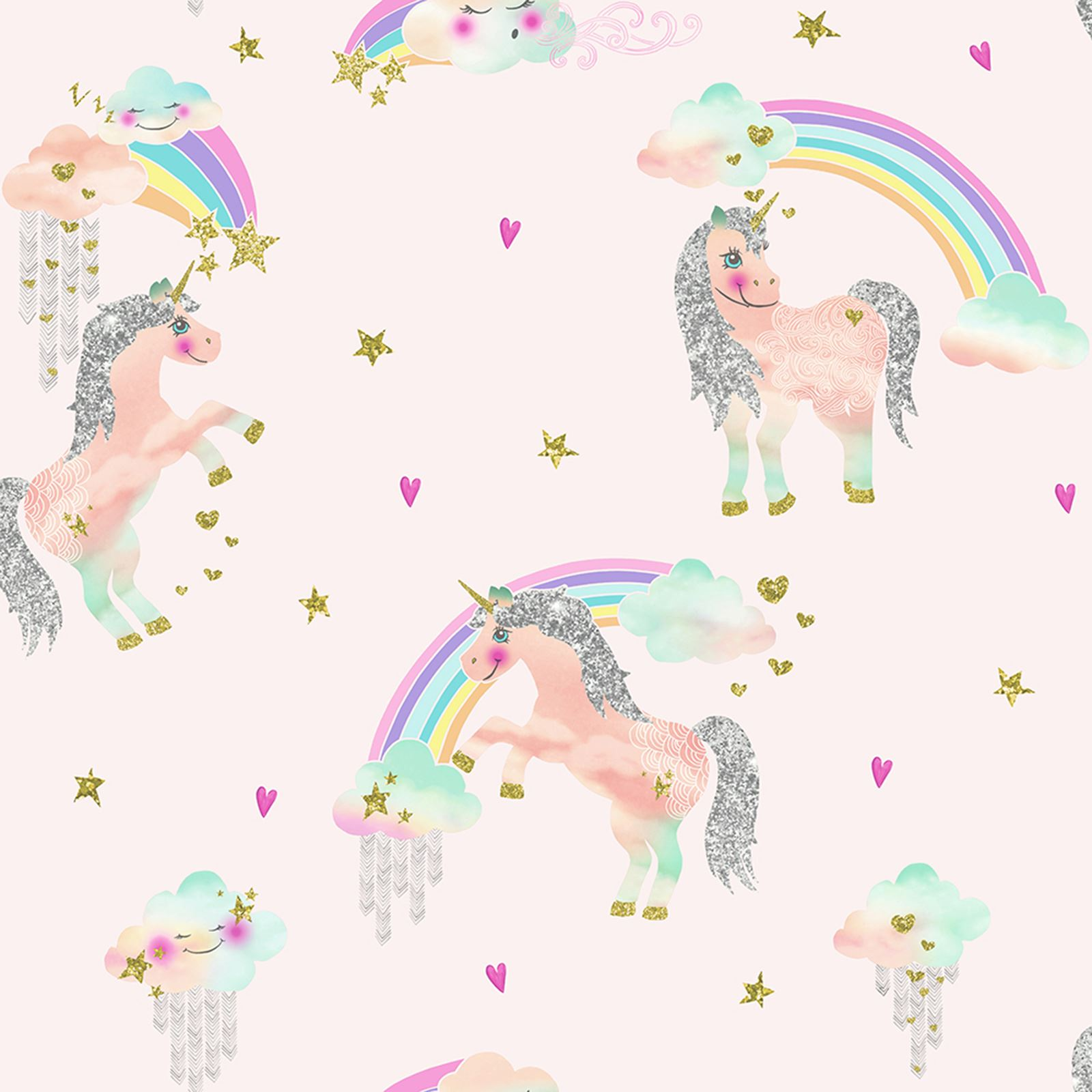 ARTHOUSE RAINBOW UNICORN WHITE PINK Amp GLITTERATI GLITTER
