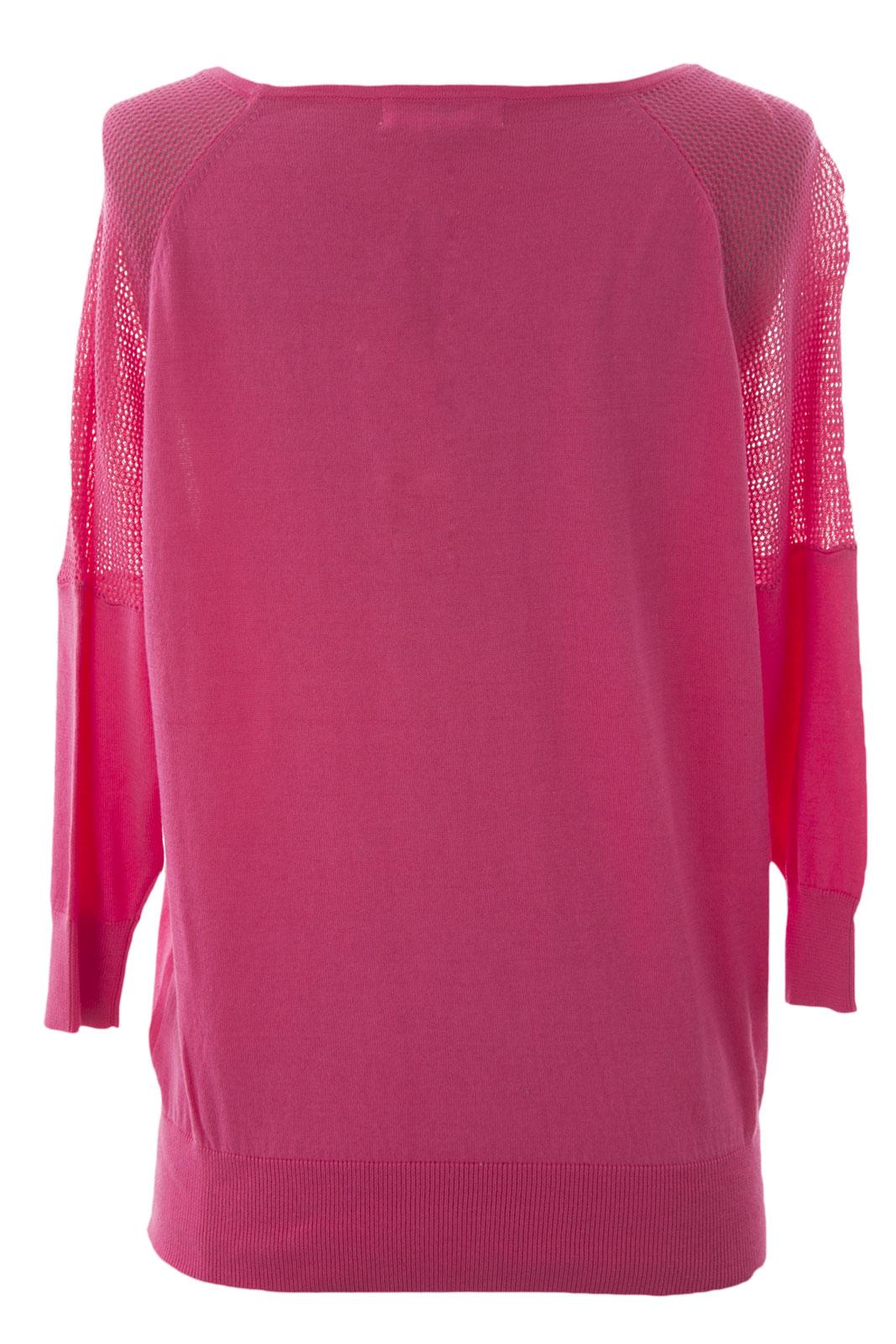 Maglione 3 Nuova Con Donna Mesh Manica Piccola August Inserto Silk Etichetta 4 FYqH8