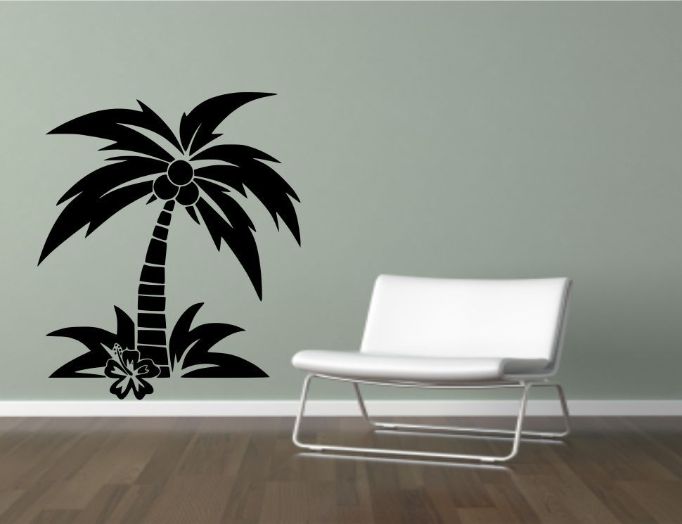 Coconut Palm Tree Wall Sticker Decal Mural Transfer  Part 32