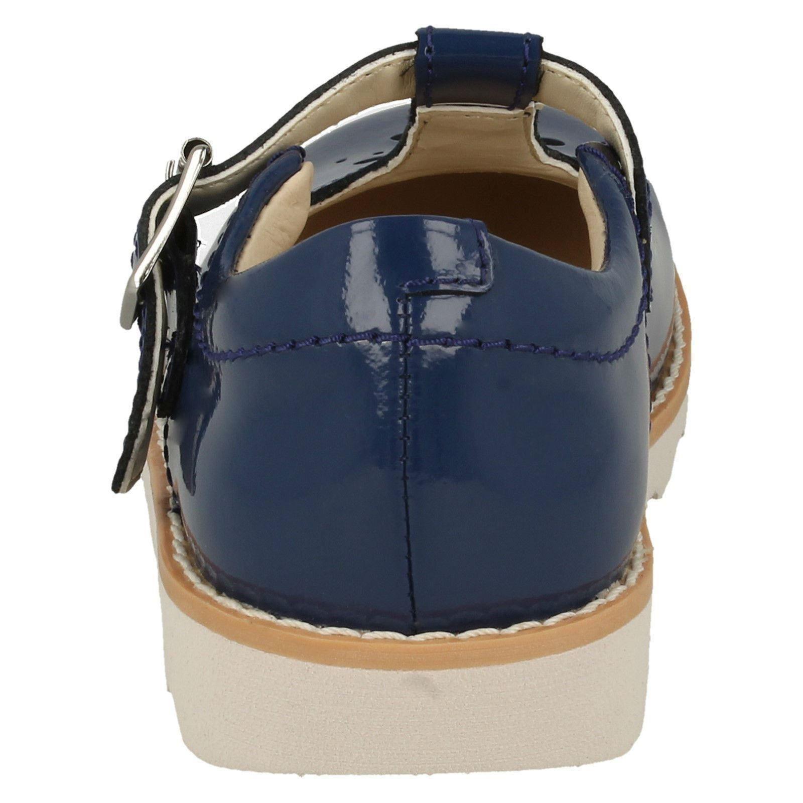 Girls Clarks Crown Wish Classic T-Bar Shoes