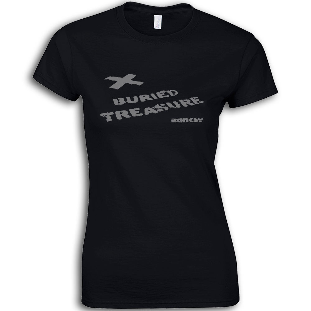 Banksy-Buried-tesoro-da-donna-cotone-maglietta-t-shirt-graffiti-X-SEGNI-THE-SPOT