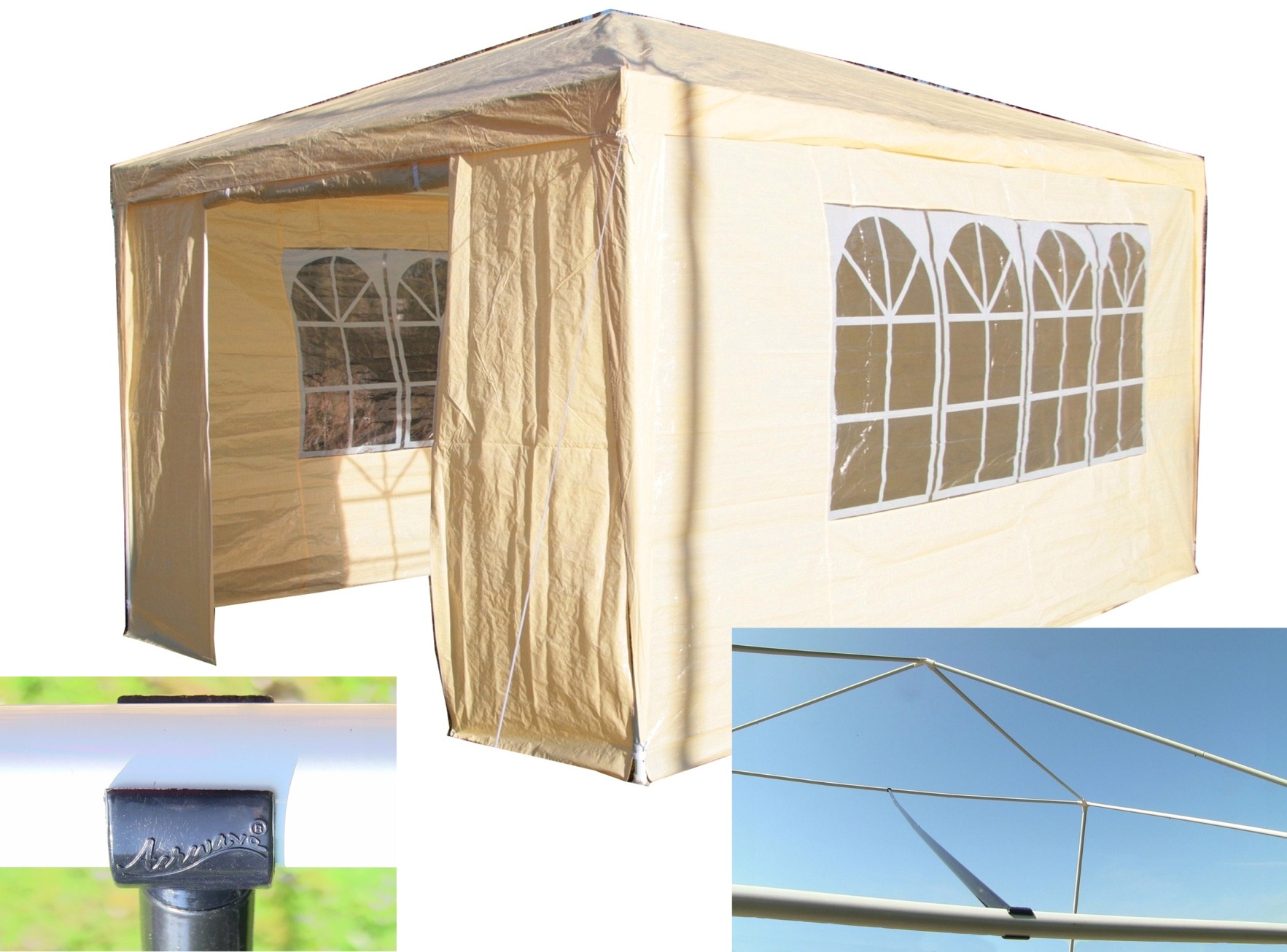 Airwave 3m x 4m carpa para fiesta gratis protector viento for Cuisine 3m x 4m