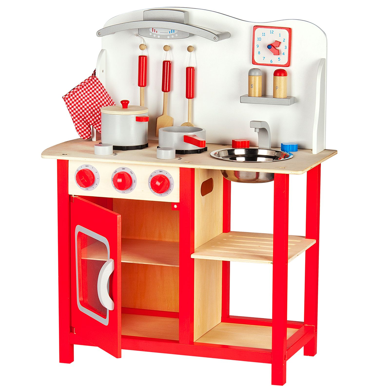 wooden kitchen accessory set leomark wooden kitchen childrens play kitchen with 1629