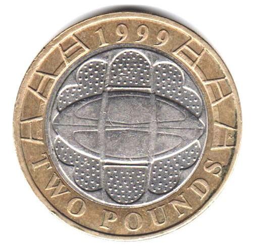 Zwei Pfund Münze 1999 To 2014 Brilliant In Umlauf Gebracht Bu