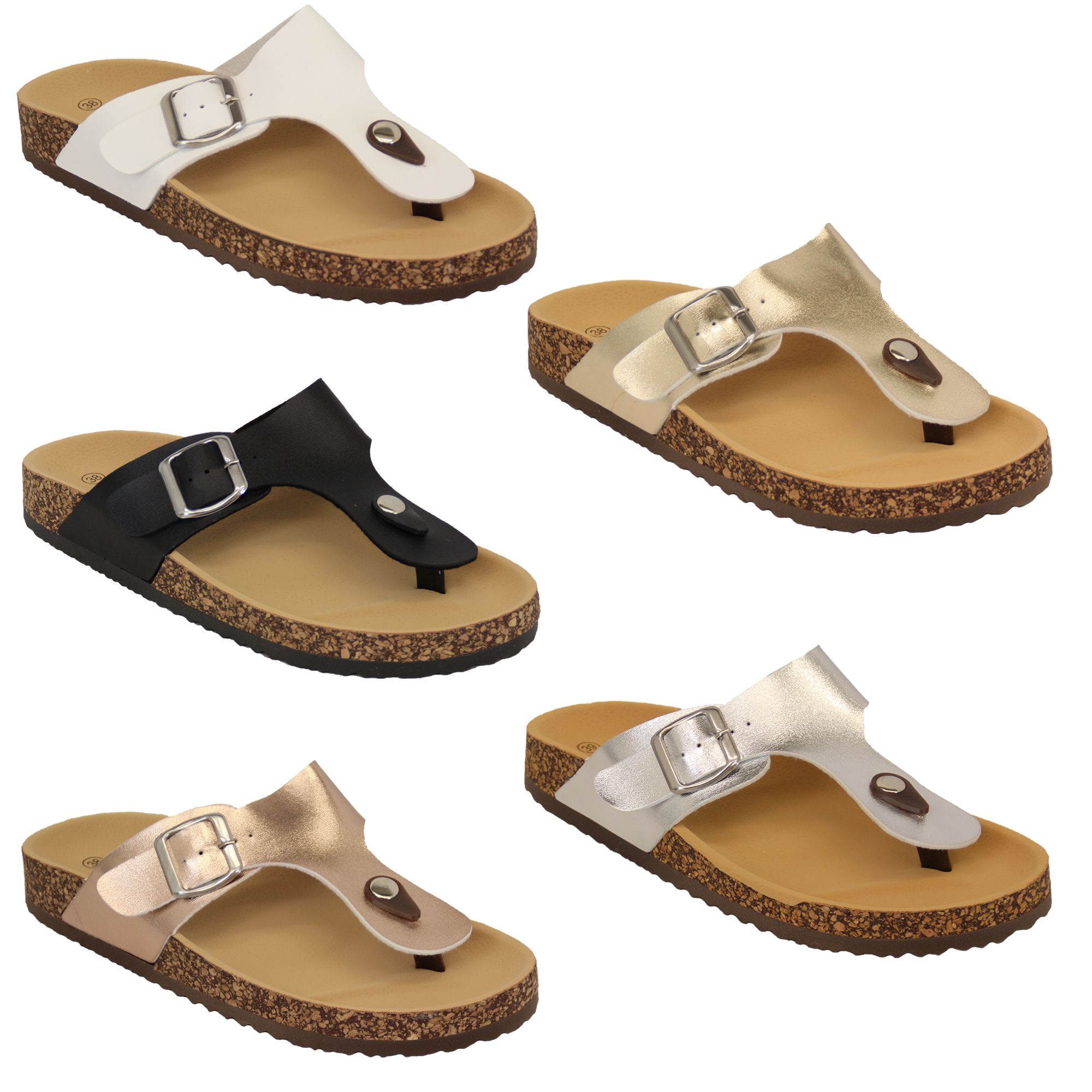 Mule Sandals Womens Flat Toe Post