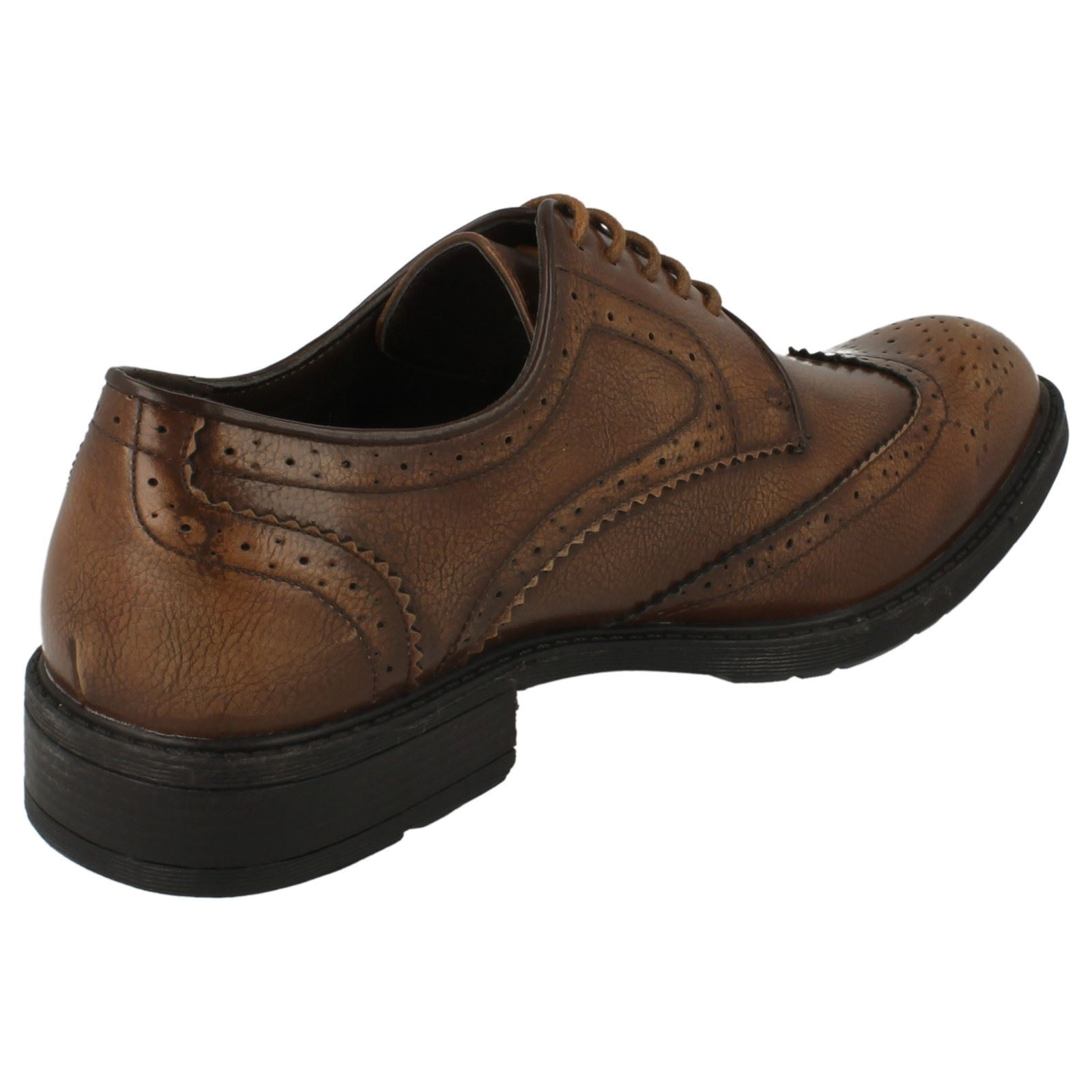 A1065 MENS MAVERICK LACE UP ROUND TOE FORMAL EVERYDAY WORK SHOES