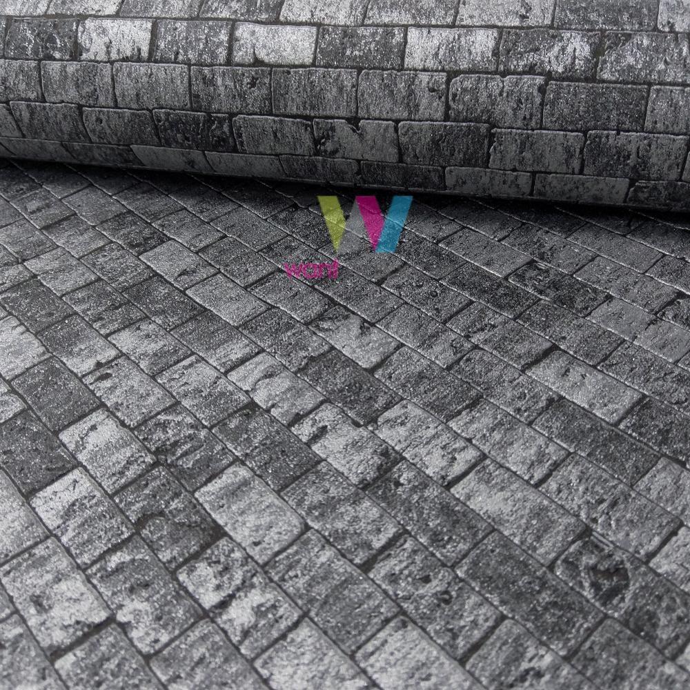 erismann brique en pierre motif papier peint relief effet. Black Bedroom Furniture Sets. Home Design Ideas