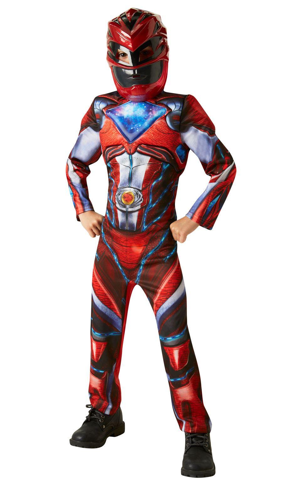 Ninos-De-Lujo-Power-Rangers-Pelicula-Rojo-Ranger-Disfraz-Nino-Disfraz