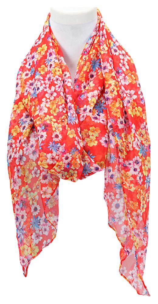 Donna primavera estate sciarpa piccola fiori sciarpa estiva - Fiori da giardino primavera estate ...