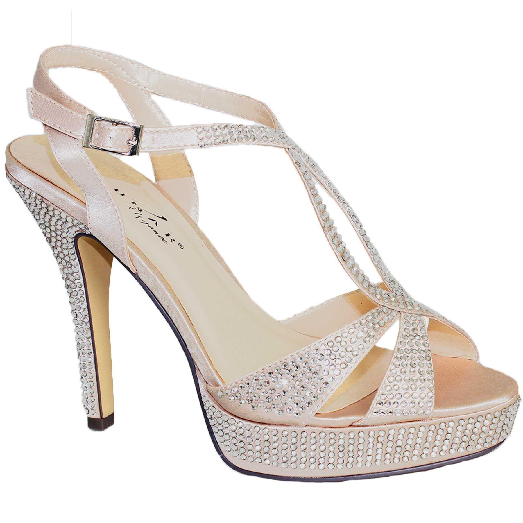 Damen Diamant Criss Heels Cross Riemen Plateau Party Damen High Heels Criss Clutch Tasche 8cb779