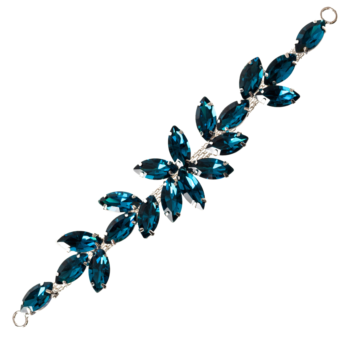 Rhinestone-Diamante-Motif-Applique-Sew-on-Crystal-Patch-for-Wedding-Bridal-Dress thumbnail 34