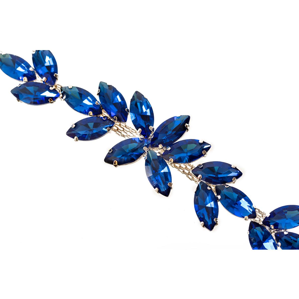 Rhinestone-Diamante-Motif-Applique-Sew-on-Crystal-Patch-for-Wedding-Bridal-Dress thumbnail 27