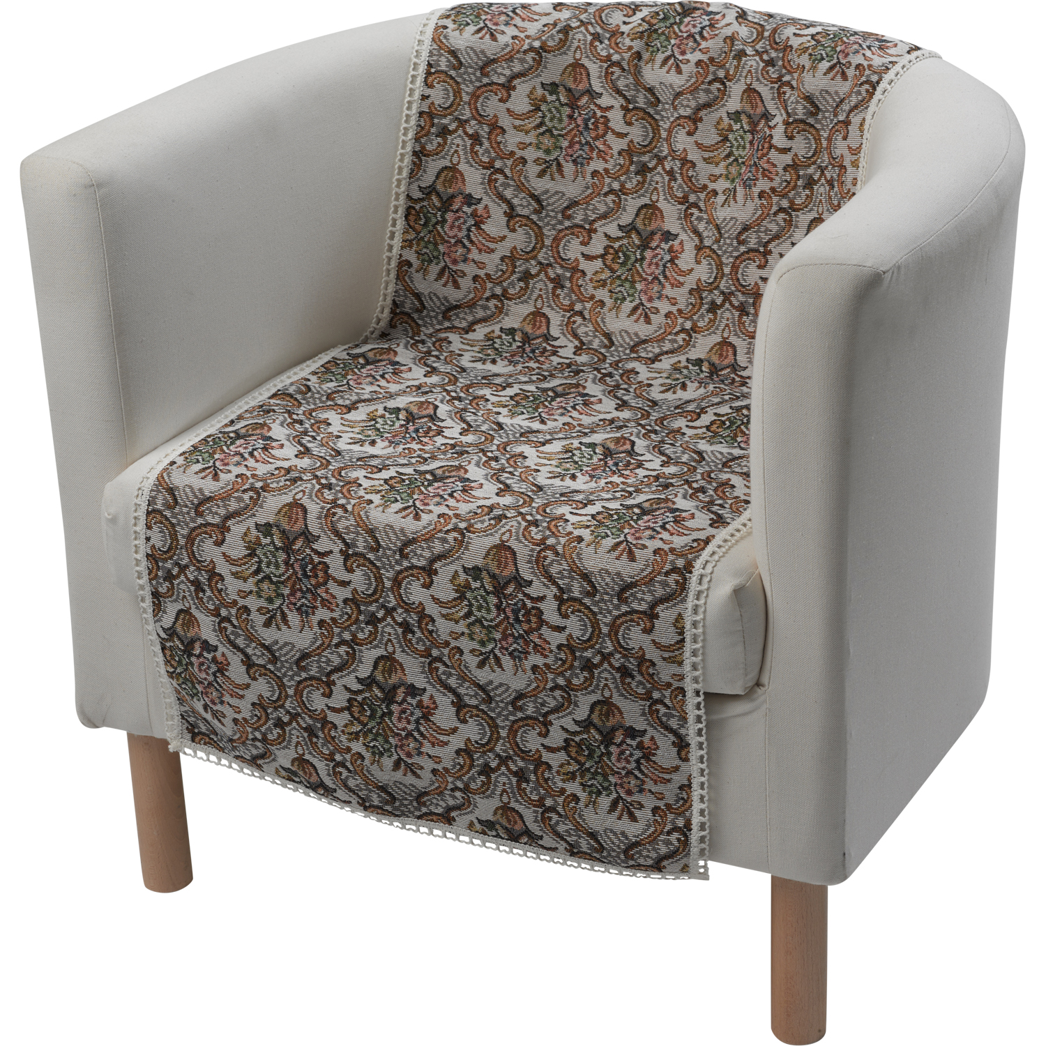 Furniture Chair Protector Floral Tapestry Decorative Lace