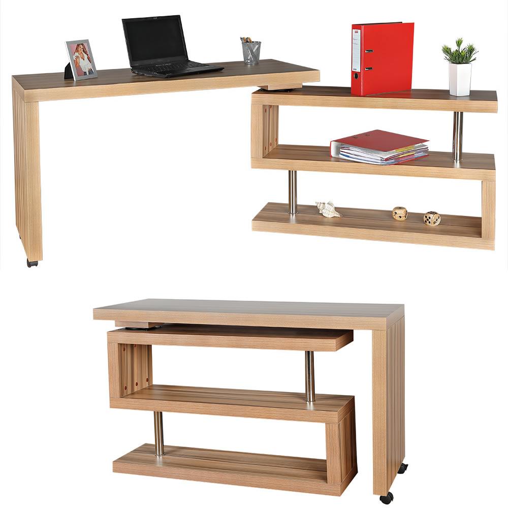 203cm secr taire sur table de travail bureau d. Black Bedroom Furniture Sets. Home Design Ideas