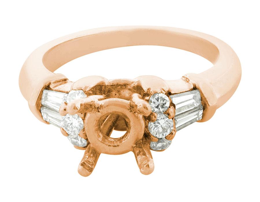 Natural-0-50-Ct-Diamante-Talla-Redonda-Cortado-Semi-Montado-Anillo-de-Compromiso miniatura 5