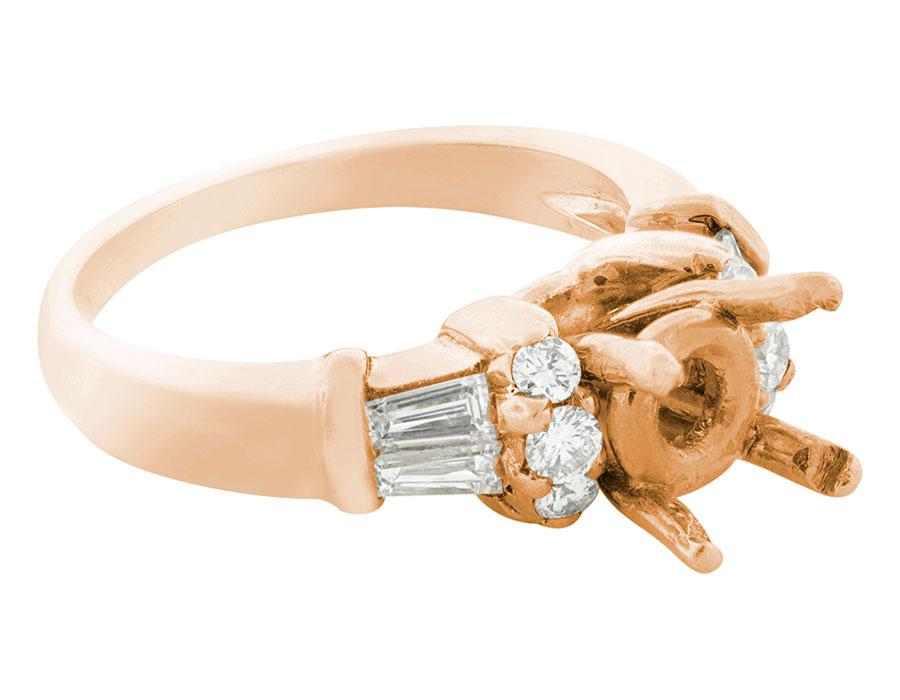 Natural-0-50-Ct-Diamante-Talla-Redonda-Cortado-Semi-Montado-Anillo-de-Compromiso miniatura 6