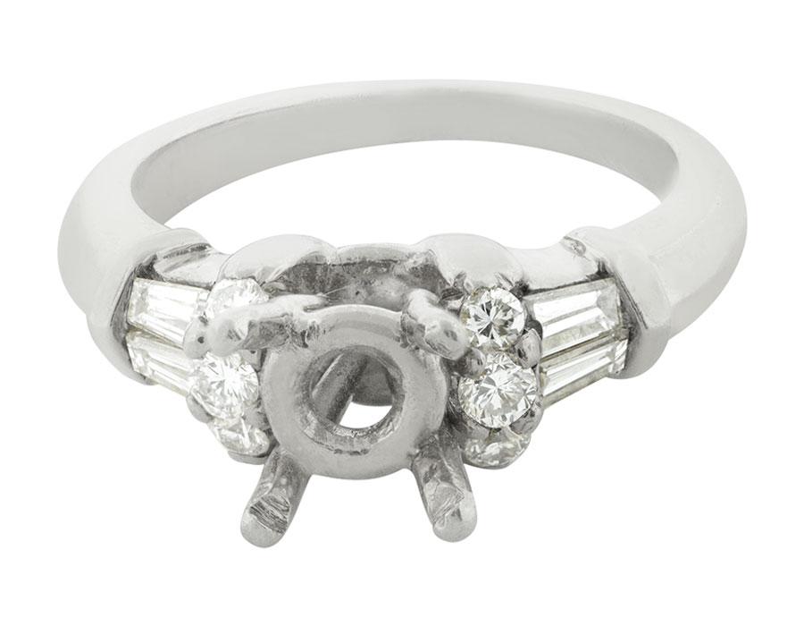 Natural-0-50-Ct-Diamante-Talla-Redonda-Cortado-Semi-Montado-Anillo-de-Compromiso miniatura 8
