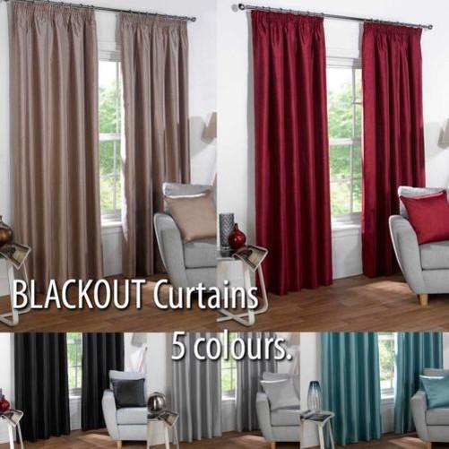 Thermo Blackout Schlicht Vorhänge zu Block Sunlight in 6 Größen