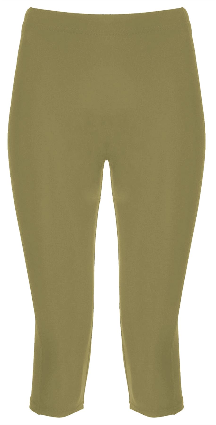 Jeans Corti Donna Capri Donna Tinta Unita SUMMMER Tasca Pantaloni Misura UK 3//4