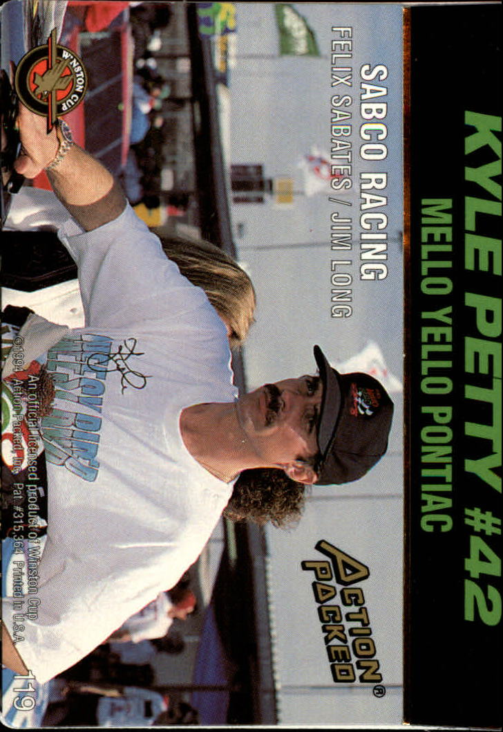 thumbnail 235 - 1994 Action Packed Auto Racing Cards 1-209 (A2791) - You Pick - 10+ FREE SHIP