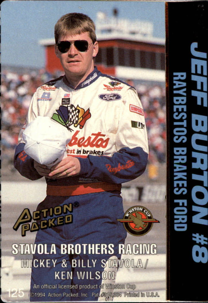 thumbnail 247 - 1994 Action Packed Auto Racing Cards 1-209 (A2791) - You Pick - 10+ FREE SHIP