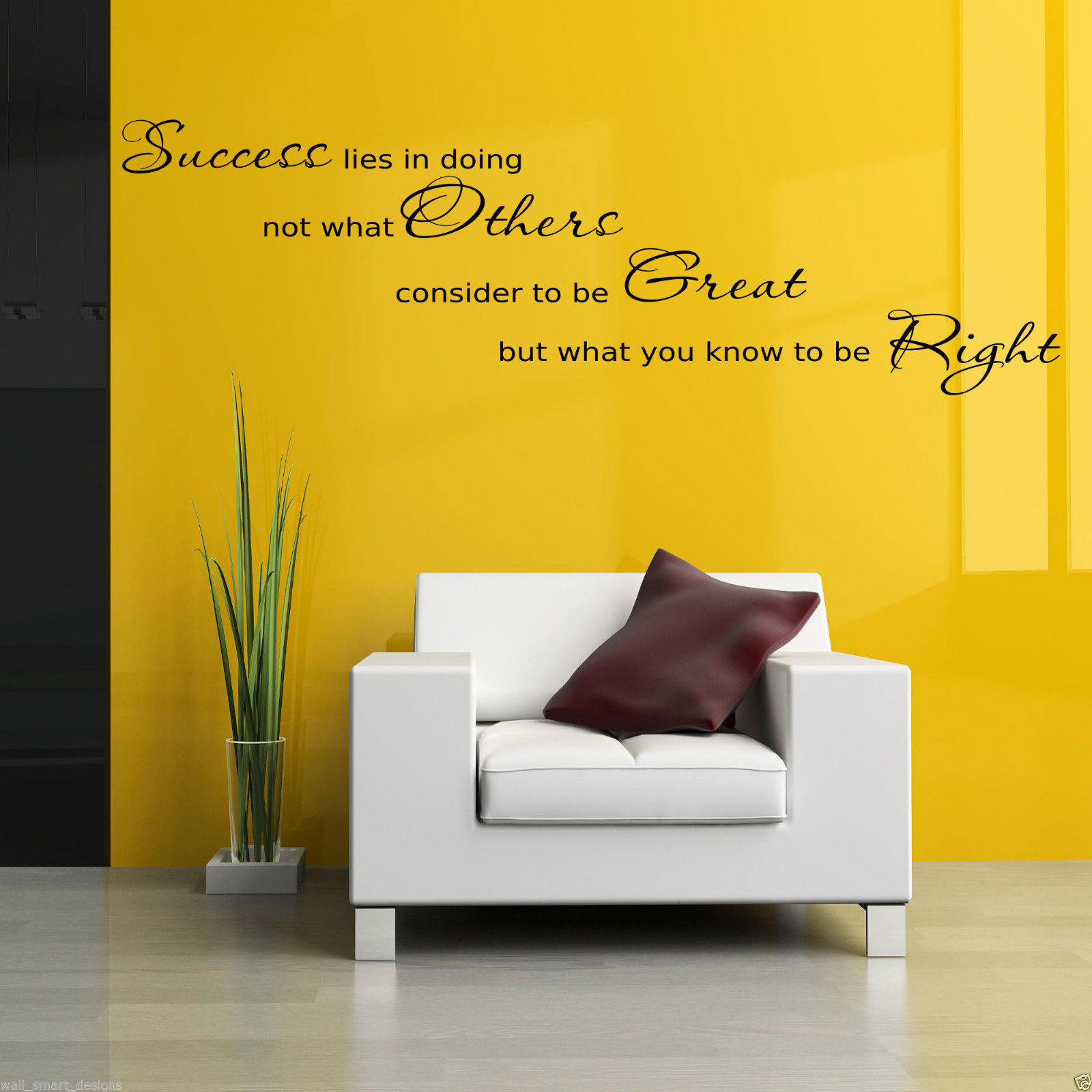 success office wall art sticker hall lounge quote decal mural stencil transfer ebay. Black Bedroom Furniture Sets. Home Design Ideas