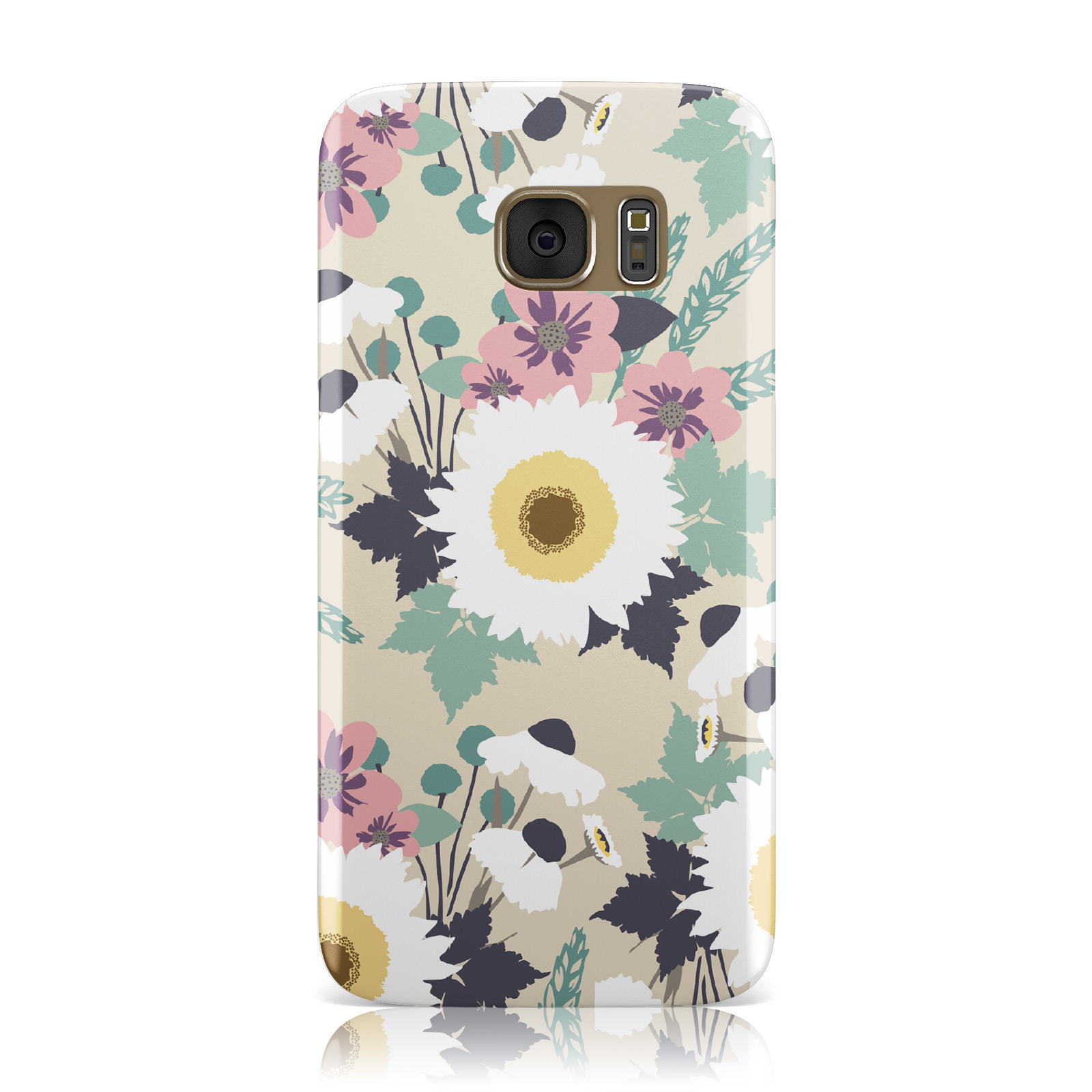 Pastel-Estampado-Floral-Vintage-Crema-Funda-para-Samsung-Galaxy