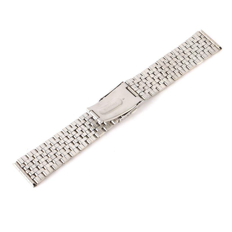 Women Men Stainless Steel Metal Watch Band Belt Strap Bracelet Clasp Band18-22mm