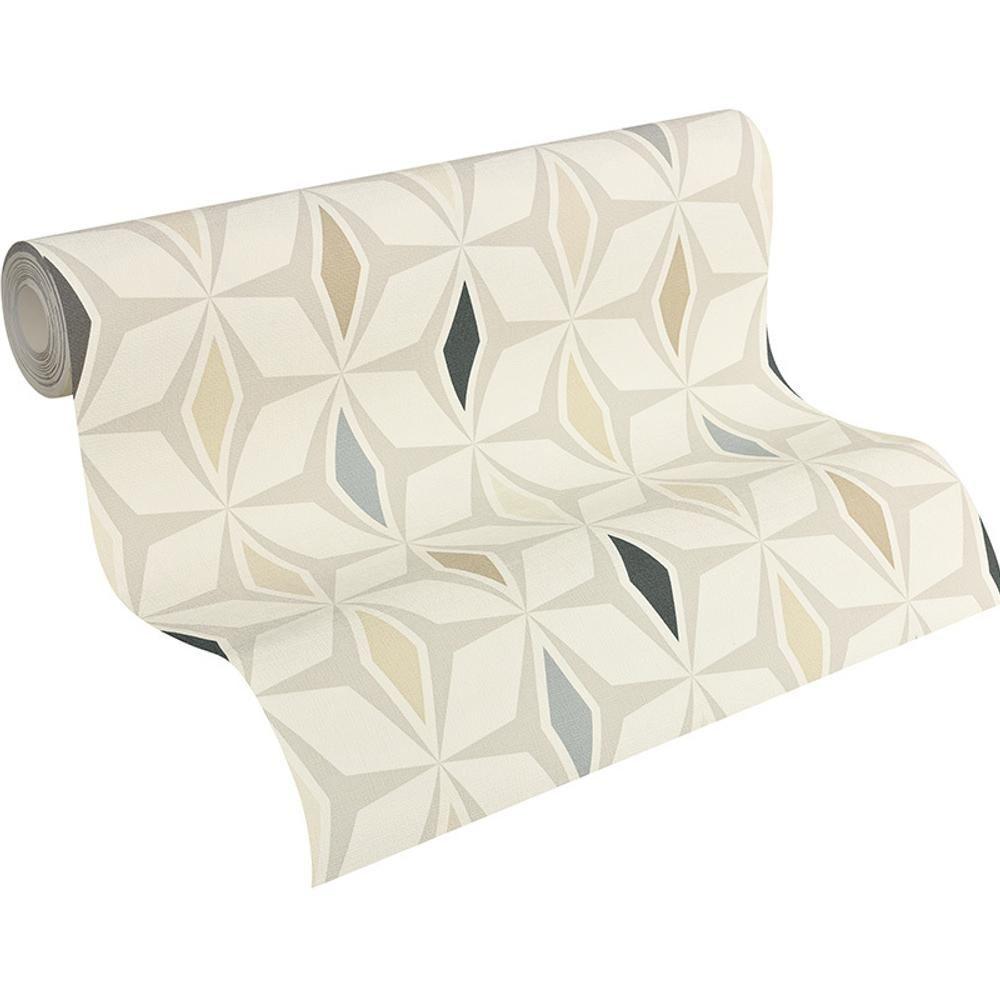 As creation geom trico dise o rombos papel pintado retro a os 60 motivo textura ebay - Papel pintado anos 60 ...