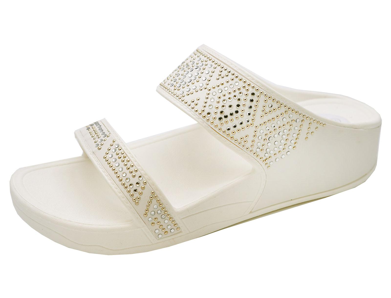 Semelle Compensée Été De Femmes Vacances Sandales Blanc Marche Cassé Chaussures PtfxaqIwx