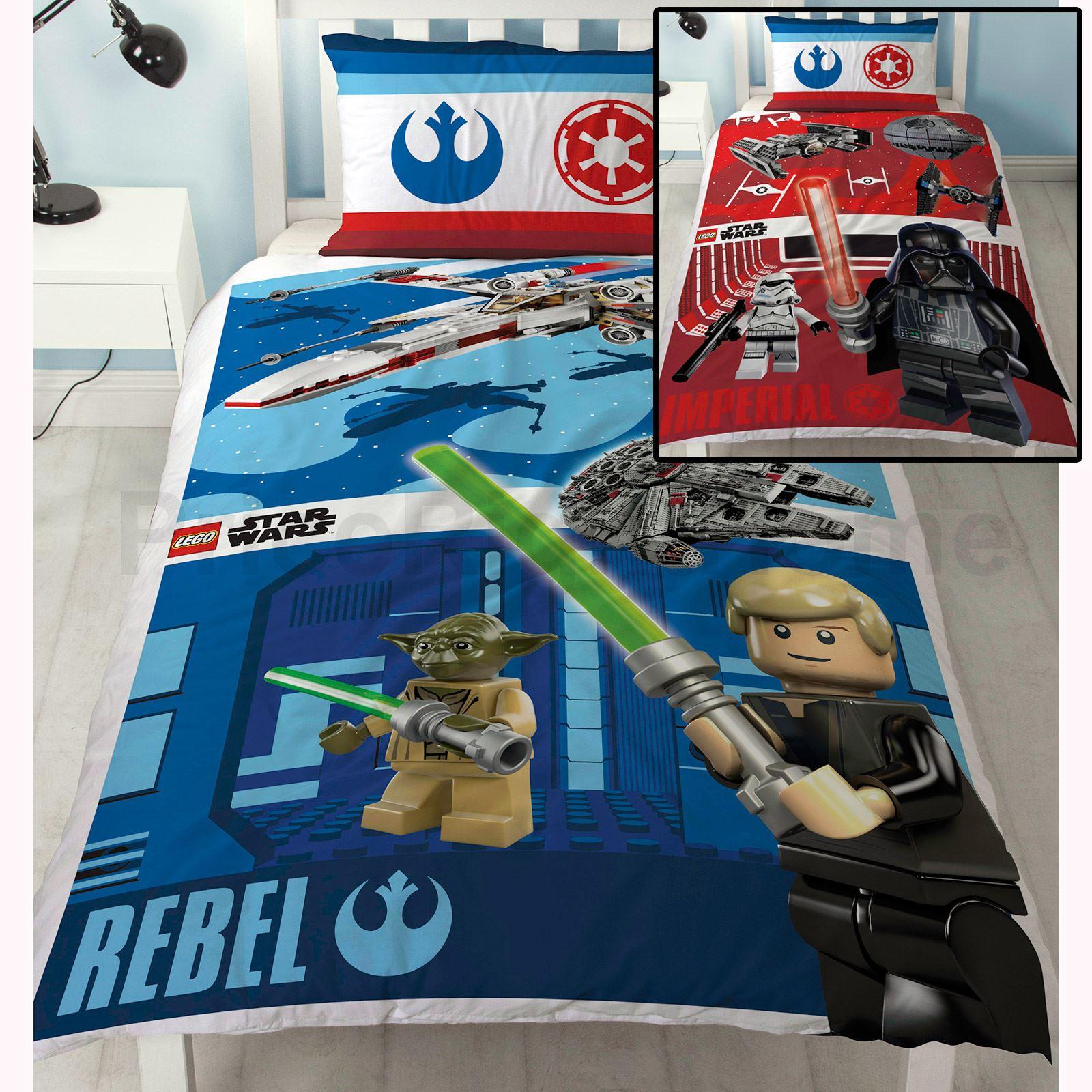 Copripiumino Matrimoniale Star Wars.Arredo Cameretta Lego Star Wars Battaglia Singola Copripiumino E