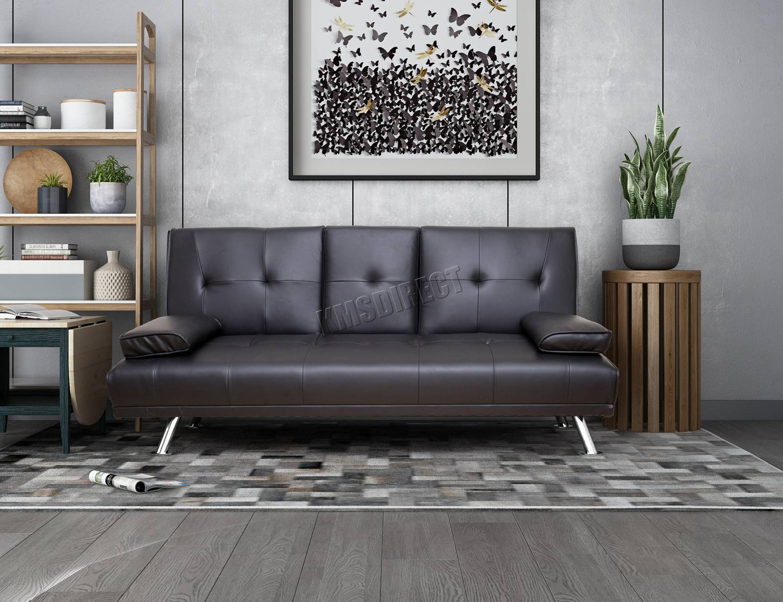 WestWood-Faux-Leather-Manhattan-Sofa-Bed-recliner-3-Seater-Modern-Luxury-Design thumbnail 14