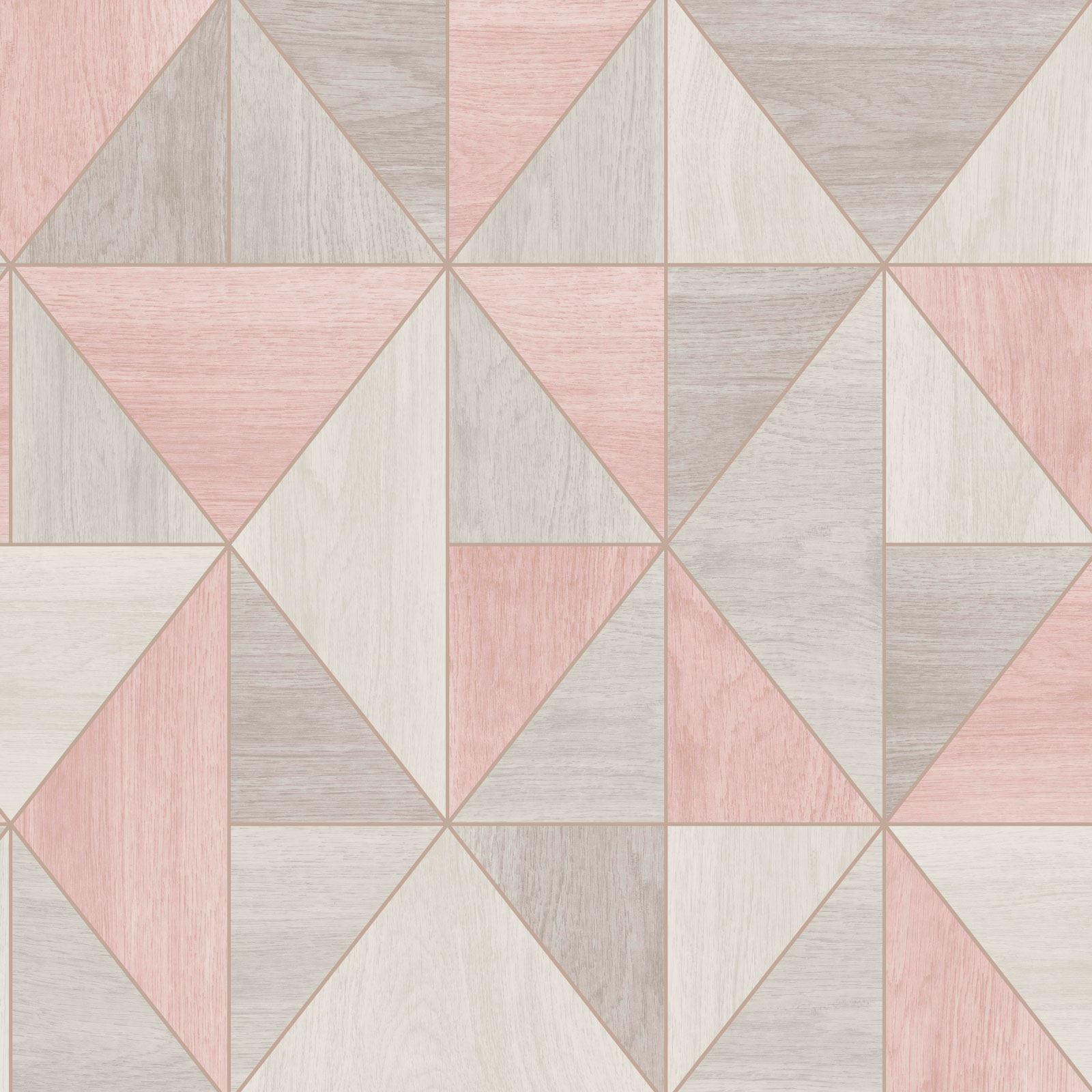 rotgold pink tapete metallisch weich texturiert streifen geometrisch damast ebay. Black Bedroom Furniture Sets. Home Design Ideas