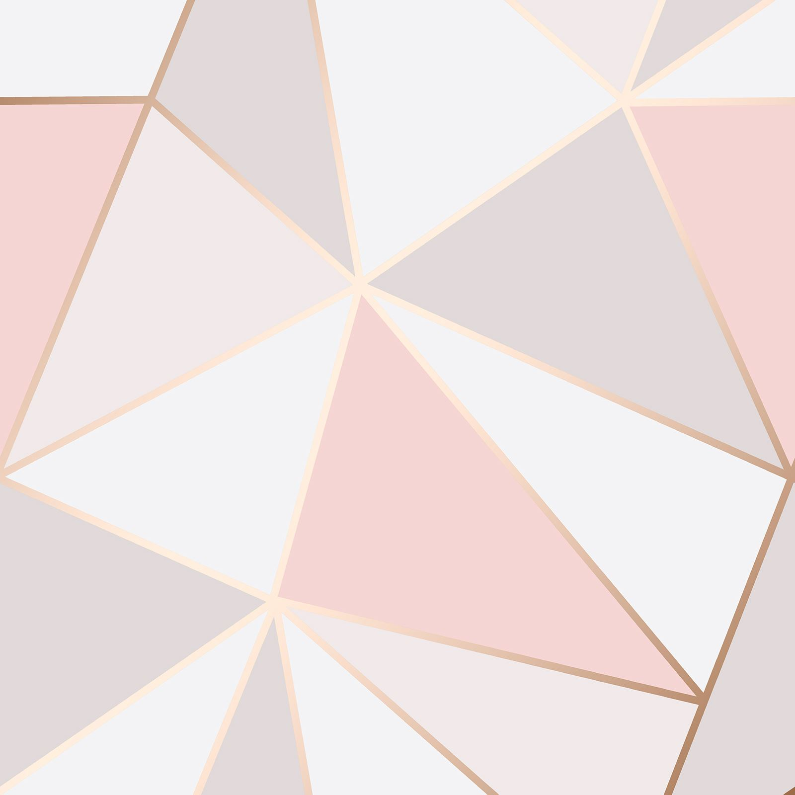 Home Decor Store Rose Gold Pink Grey Beige Wallpaper Stripe Geometric