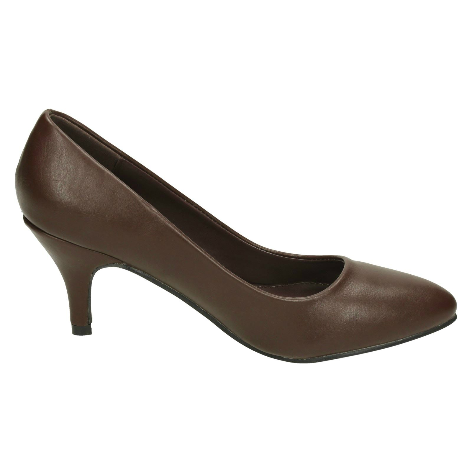 Donna-Spot-On-Tacco-Medio-a-Punta-Court-039-Scarpe-039