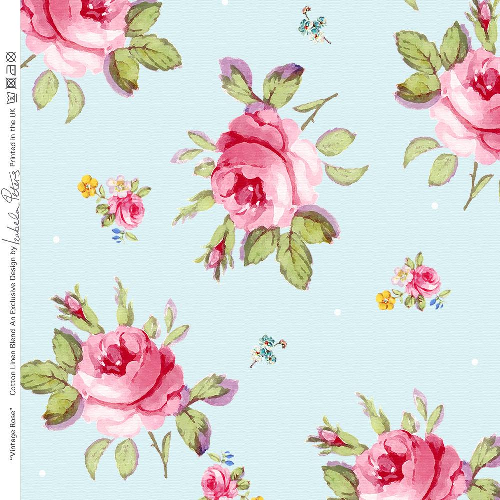 Designer Nähen Polster Vorhang Vintage Rose Stoff Leinen Baumwolle ...