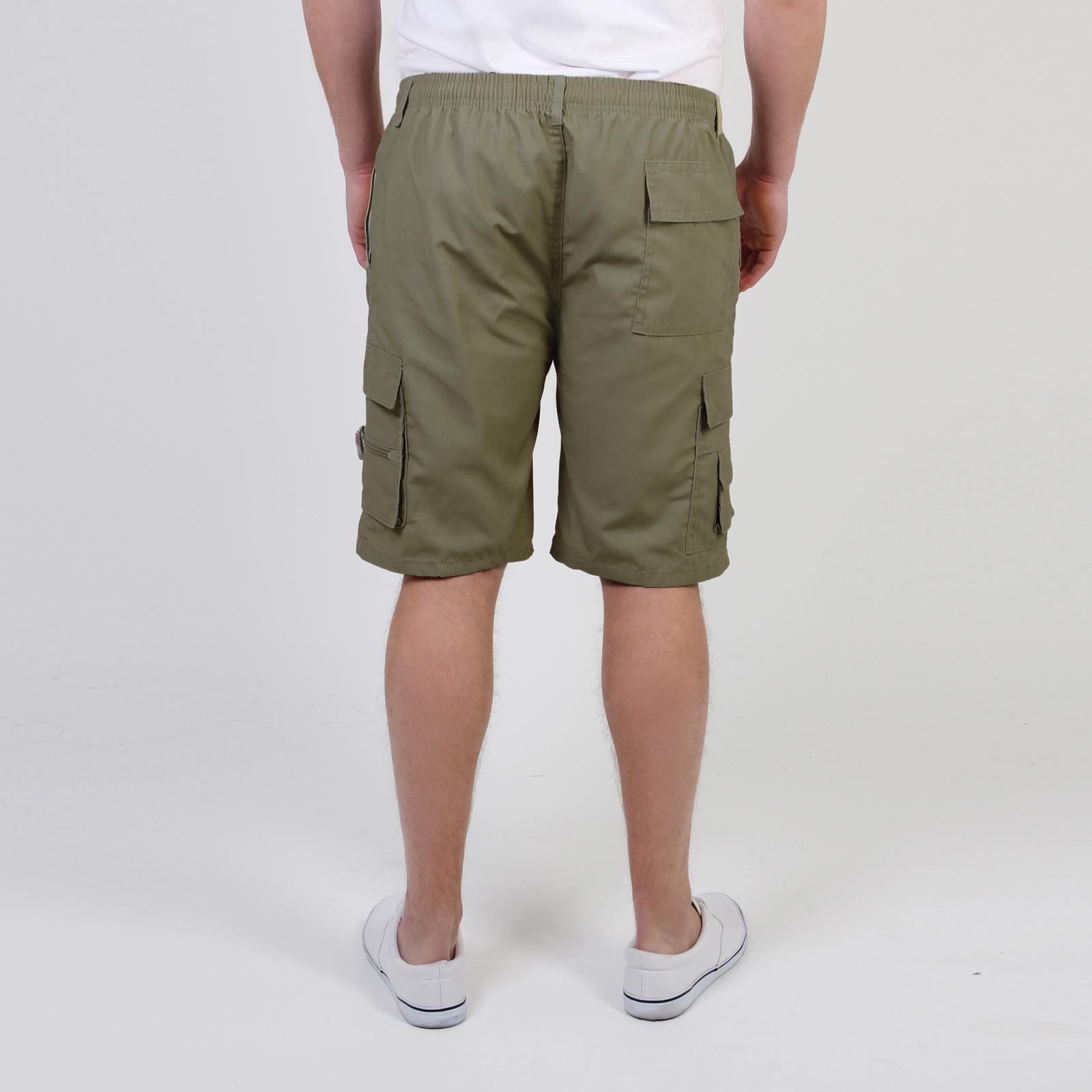 KRISP da Uomo Estivo in Cotone Pantaloncini Pantaloni Cargo Pants Camouflage