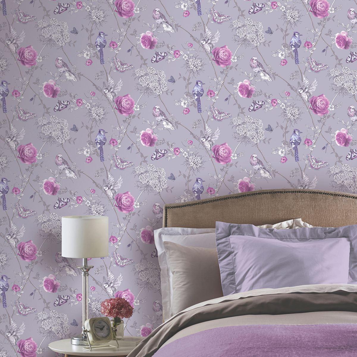 Precioso p jaros tem tico papeles pintados en varios dise os decoraci n de pared ebay - Papeles pintados de diseno ...