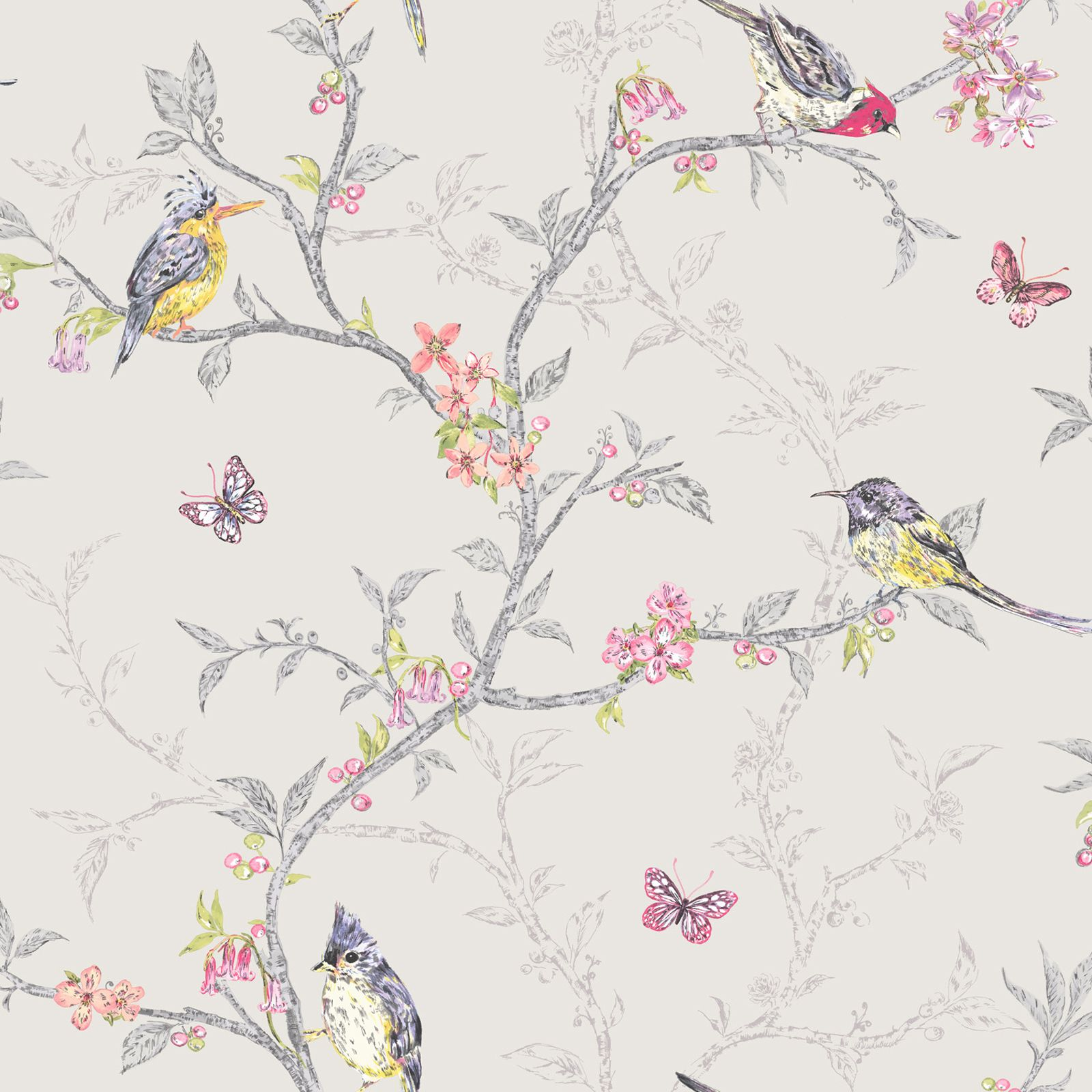 beautiful birds themed wallpapers in various designs. Black Bedroom Furniture Sets. Home Design Ideas
