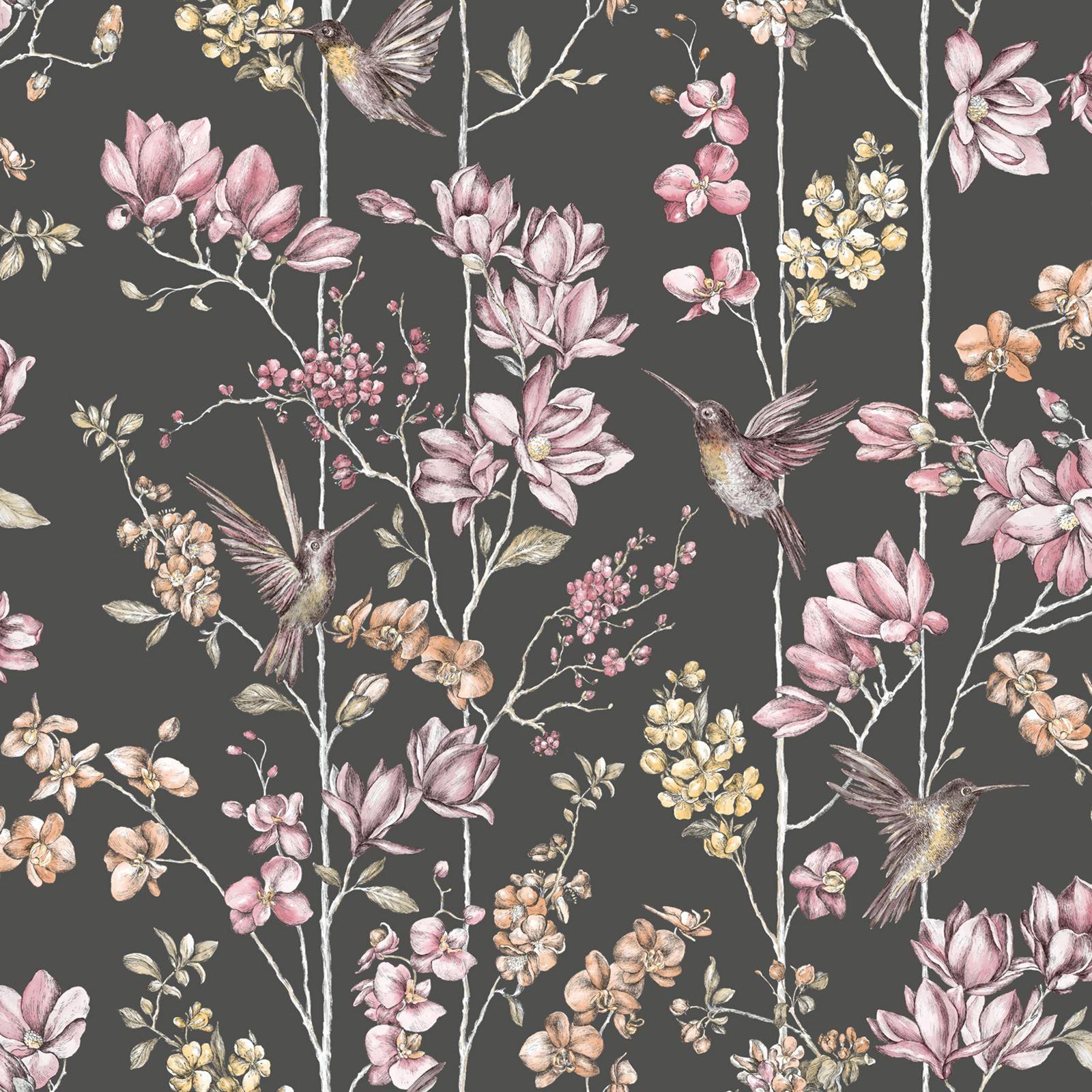 Image Result For Blumen Tapete Schwarz Weis