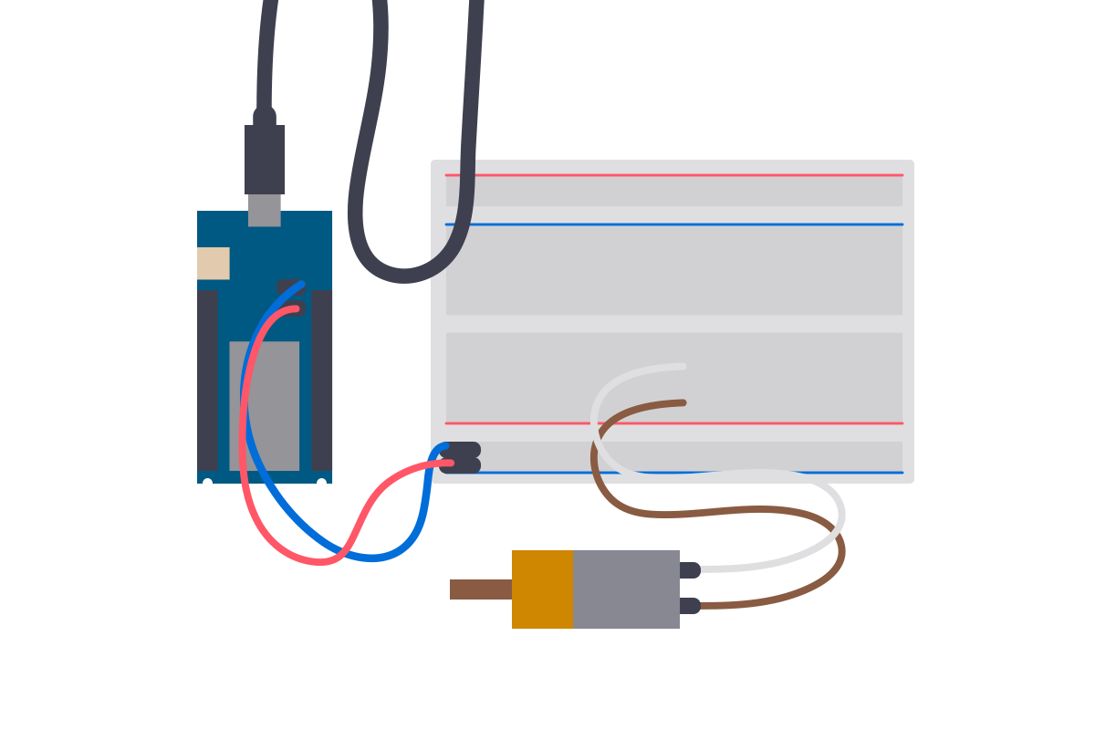 Driving A Dc Motor With An Arduino And The L293d Driver Wia Connect Ide To Usb Cable Wiring Diagram In This Tutorial Well Be Looking At How Power Drive Were Using Mkr 1000 Here But You Can Use