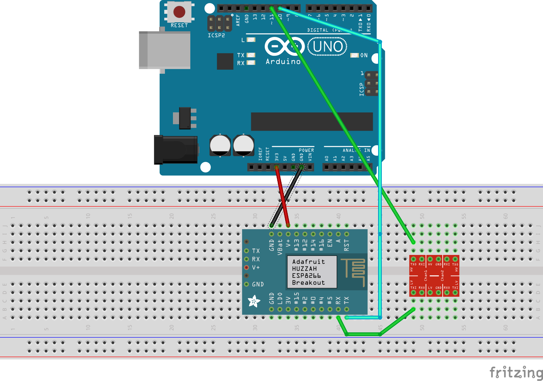 How to setup an Arduino UNO with ESP8266 and publish an