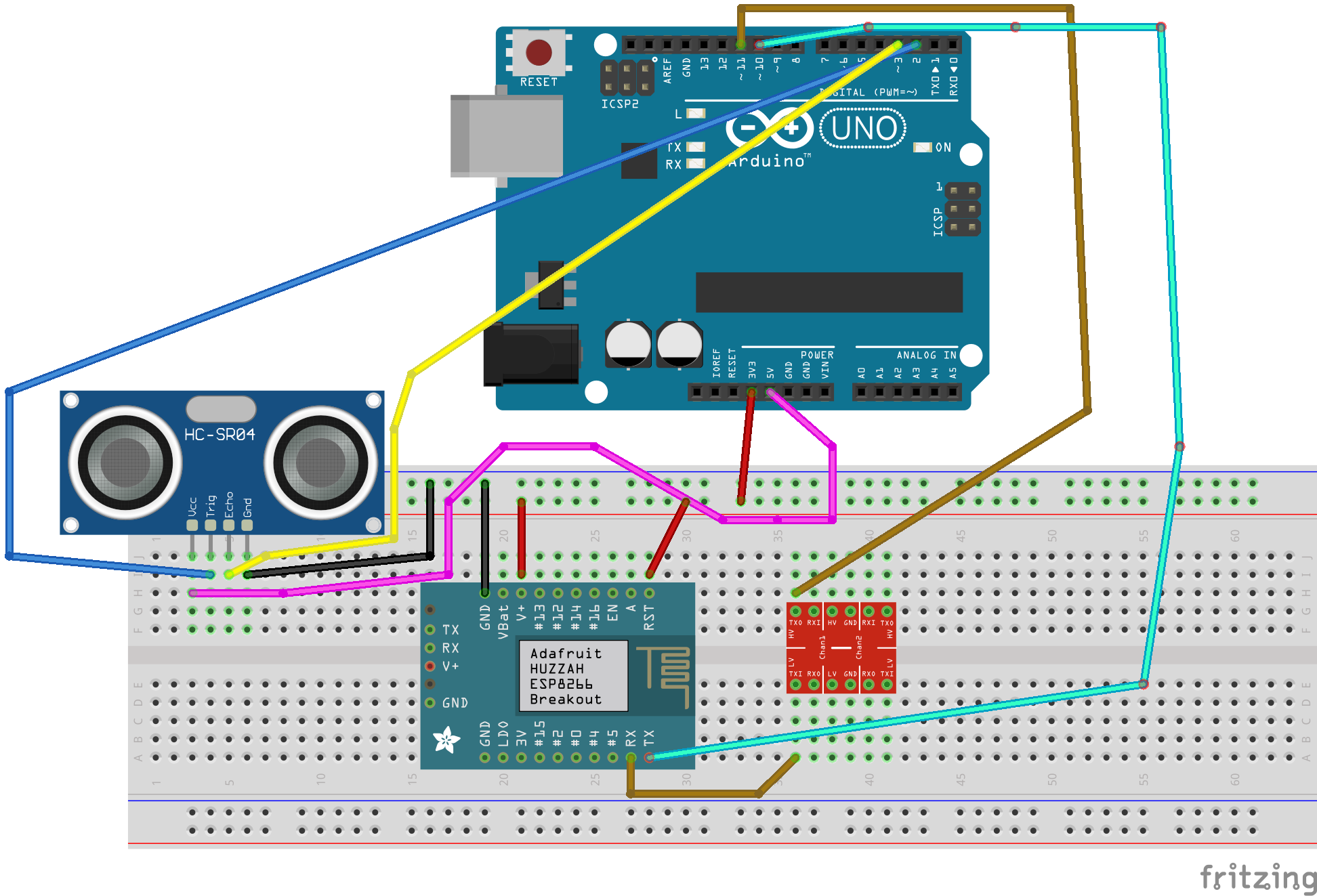 Sending Proximity Data To Wia With An Arduino Esp8266 And Diagram Wiring Connect The Uno Esp 8266 Youll Need Pins As In Above For Additional Reference Check Below