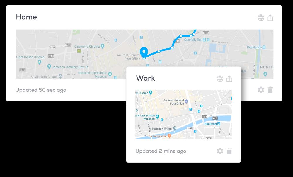 2 map Widgets