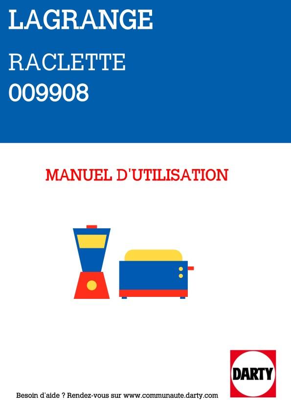 Raclette Lagrange Raclette 4 Transparence® Minéral - 009408