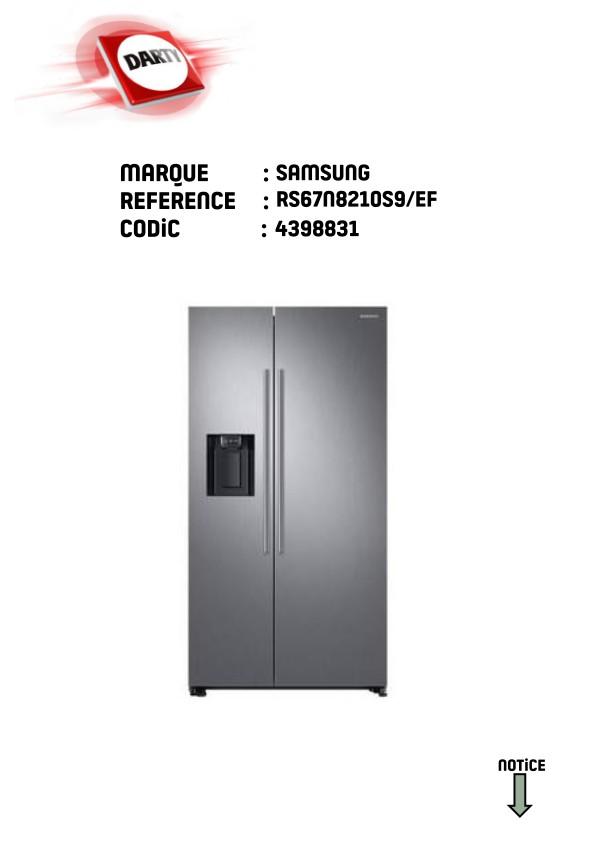 Réfrigérateur américain RS67N8210S9