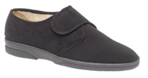 Sleepers Arthur - Mens Wide Fitting Velcro Slipper