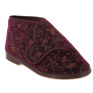 GBS BELLA - Ladies Wide Fitting Bootee Slipper