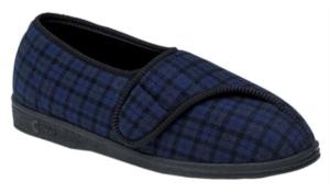 Comfylux Georgie - Mens Extra WIde Fitting Velcro Slipper