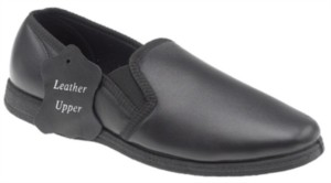 Sleepers Hadley - Sleepers Mens Wide Fit Leather Slipper